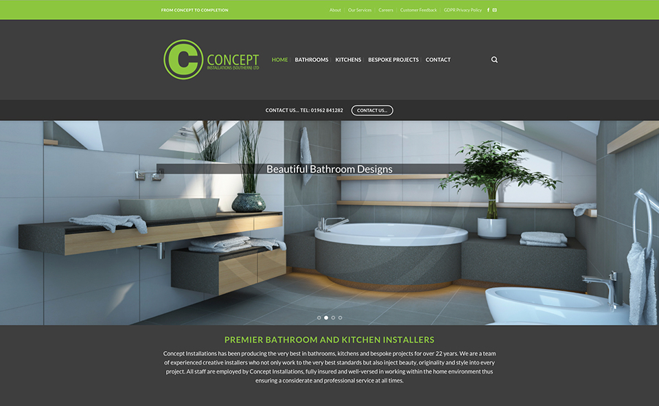 Concept Installations New Website